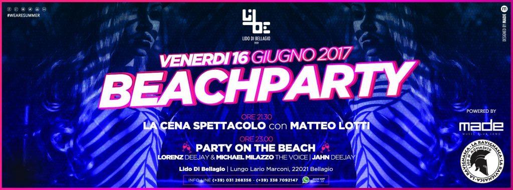 Venerdì 16 Giugno - Beach Party