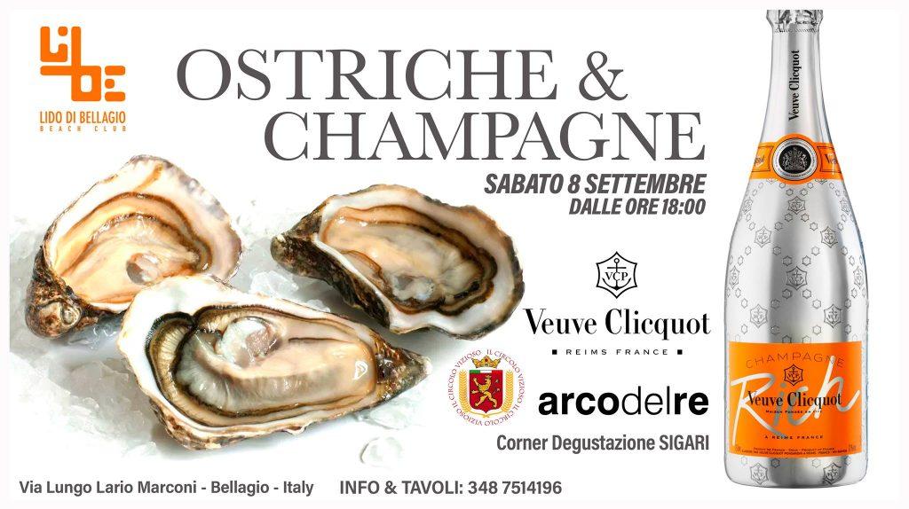 Sabato 8 settembre - Ostriche & Champagne